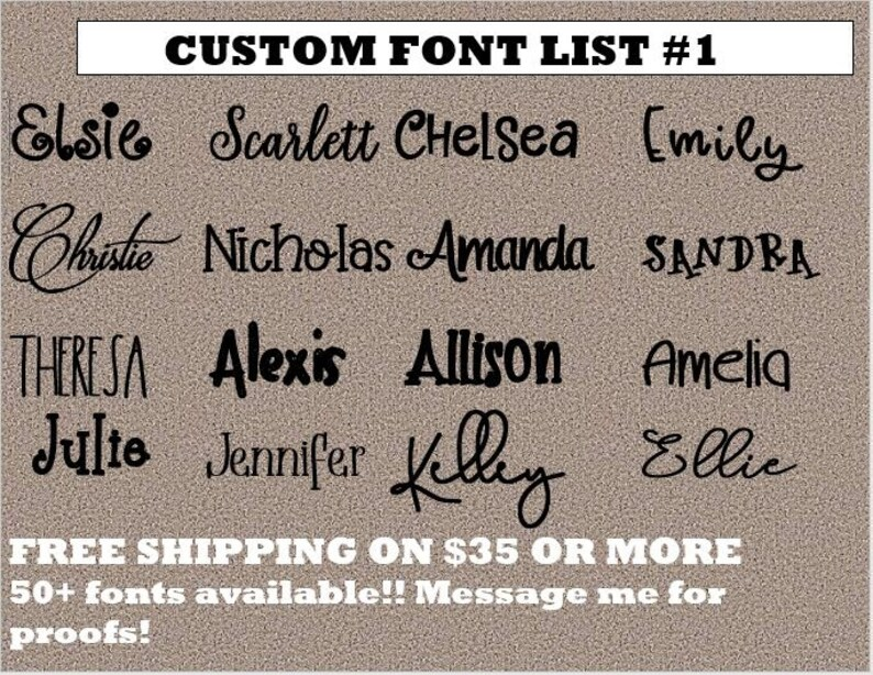 Name Decal  Yeti Decal  Custom Name Decal  Personalized