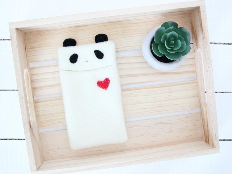 Panda Phone Case Fleece Phone Case Animal Phone Case Phone