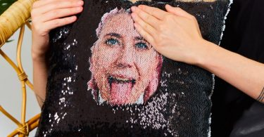 Peek a Boo – Hidden Face Personalised Cushion