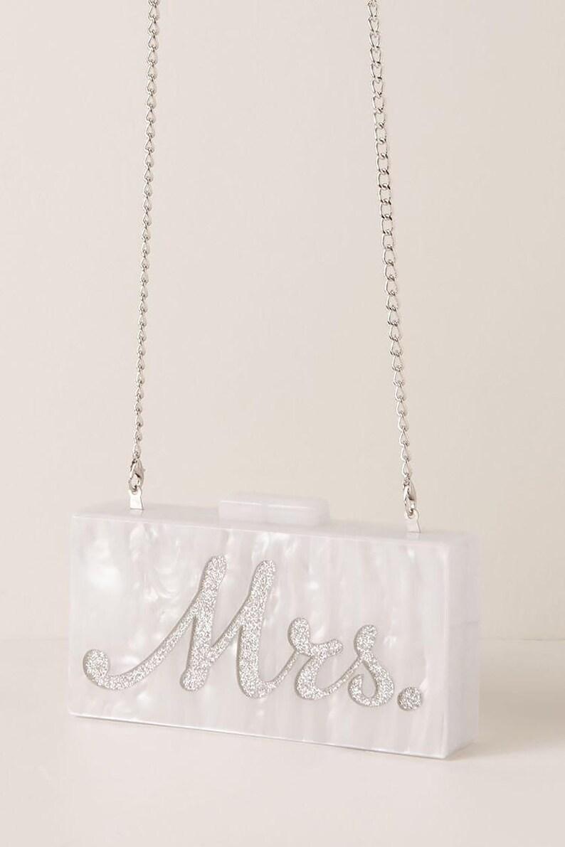 Personalized Acrylic Clutch Box Clutch Custom Mrs. Clutch