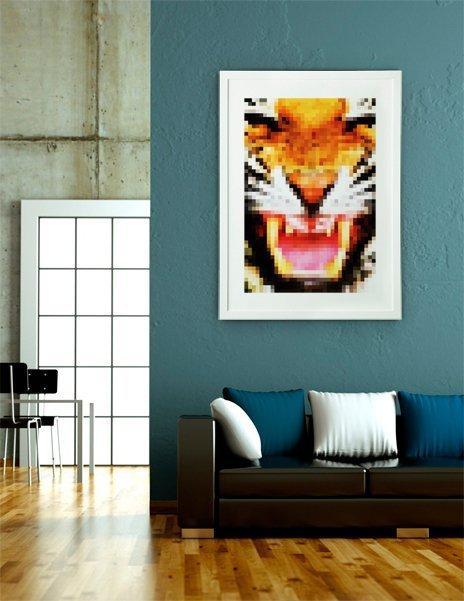 PixelTiger, Fine Art Print by Fimbis