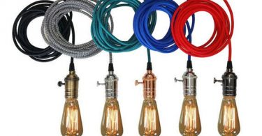 Plug In Pendant Light 15ft  5 Color choices Includes Edison