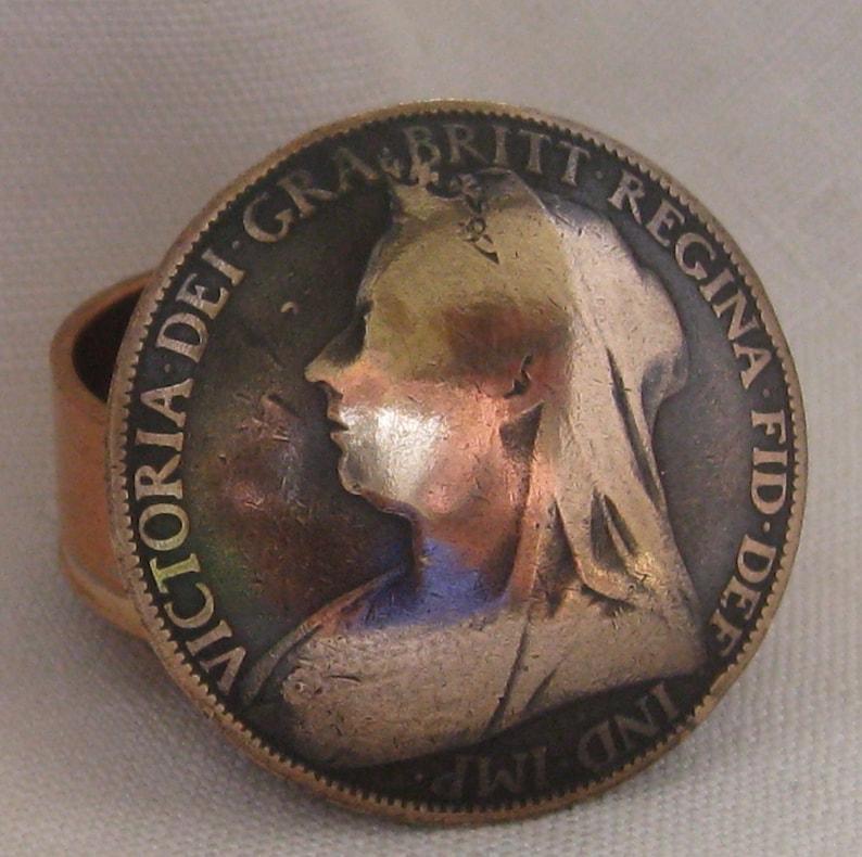Queen Victoria Penny Coin Snuff Box / Pill Pot / Stash Box /
