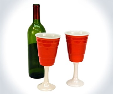 Red Cup Wine Glasses