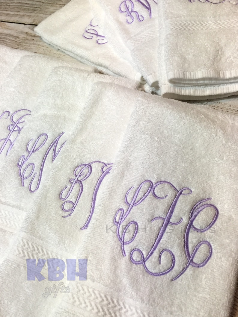 SHIPS FAST Monogrammed Hand Towel