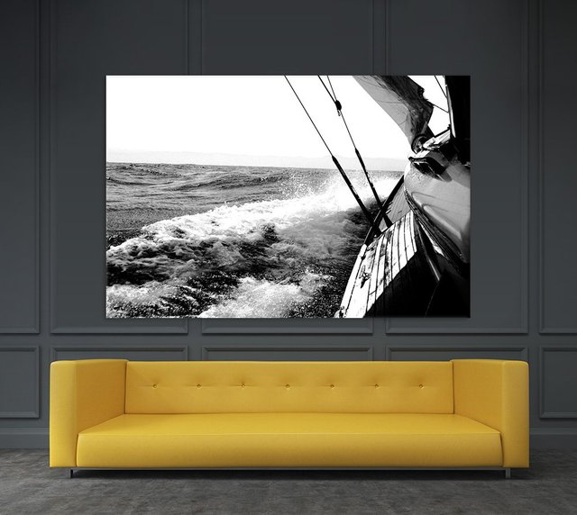 Sailing Mist, Giant Canvas Print by  Kyle 72 x 48 inches