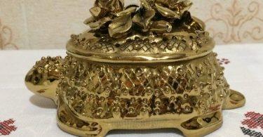 Soviet handmade casket porcelain box jewelry box