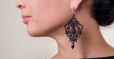Tatting earrings Cleopatra The French handmade