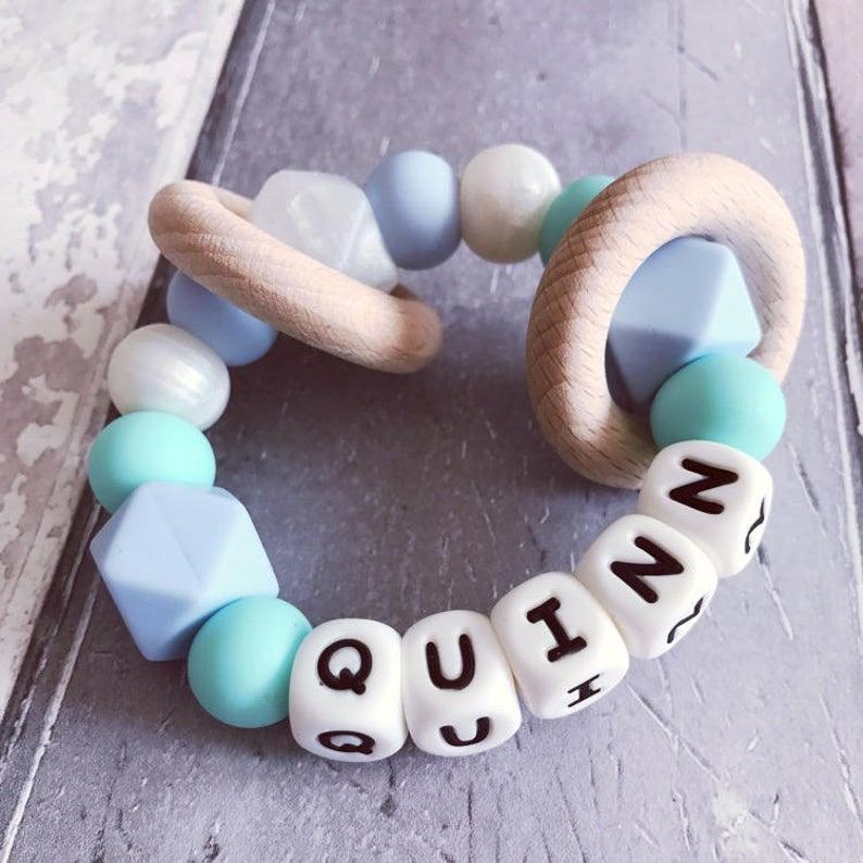 Teether teething bracelet baby rattle new baby gift
