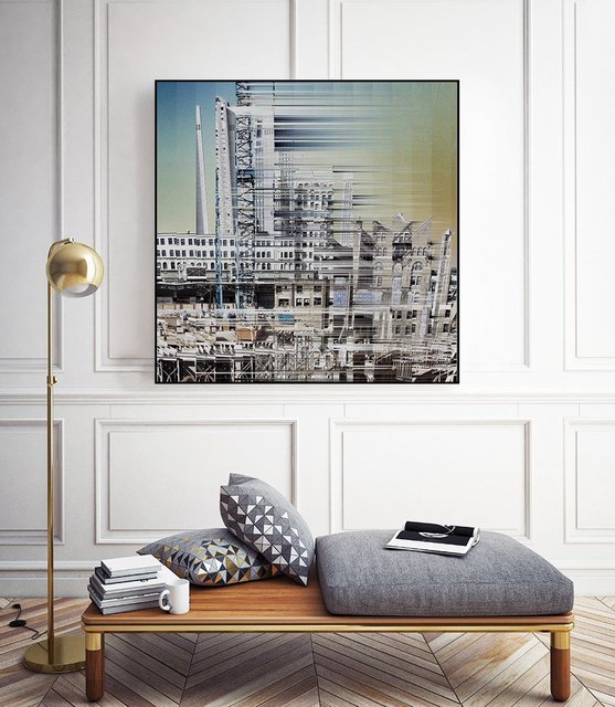 """""""Urban Abstract 6"""" Art Block Framed Canvas  by Giant Art"""