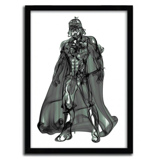 Vader Smoke Print by Octavian Mielu