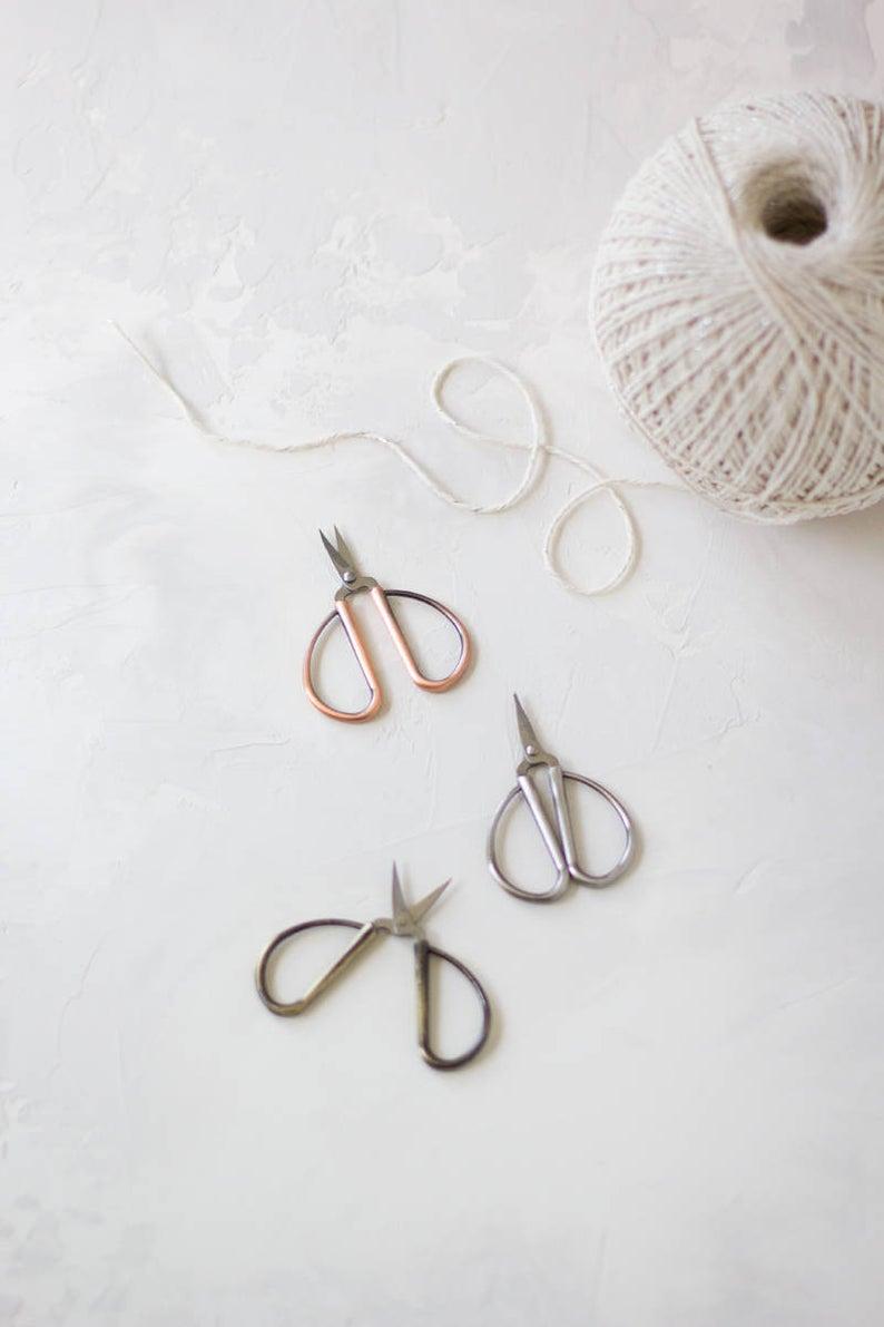 Vintage Finish Mini Bonsai Embroidery Crafting Scissors  Rose