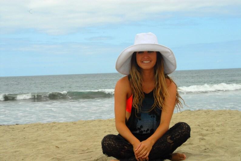 White Linen Sun Hat Wedding Hat Wide Brim Sun Hat SELECT