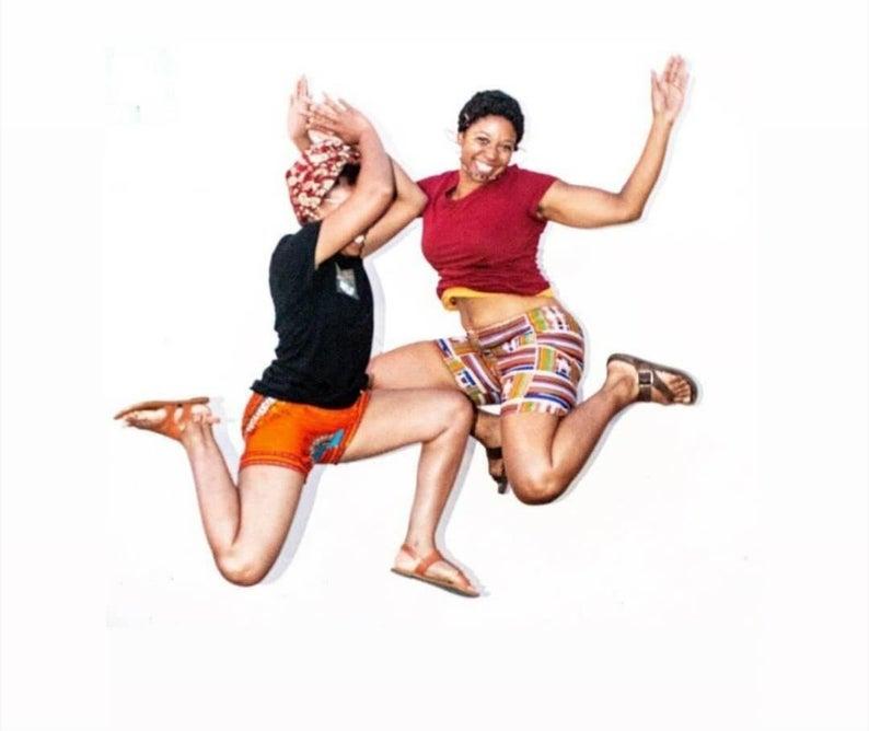 Womens African print shorts  Ankara shorts  Summer shorts