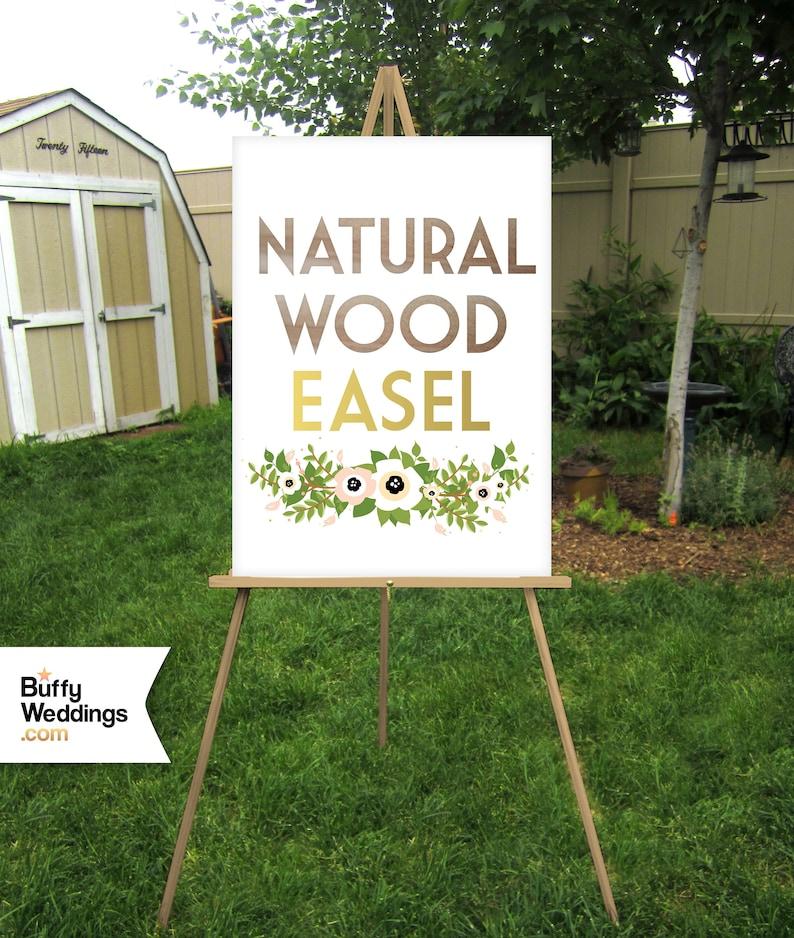 Wood Floor Easel Wedding Sign Stand Lightweight Display Large