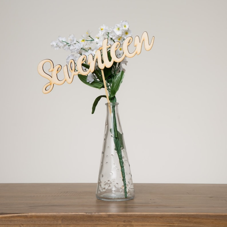 Wooden Set of 1 to 20 Table Numbers for Weddings  Modern