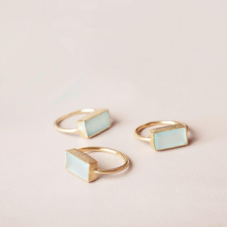 Aquamarine Gold Ring Raw Stone Ring Statement Stone Ring
