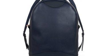 Atelier De L' Armee Voyager Pack Leather Navy Blue