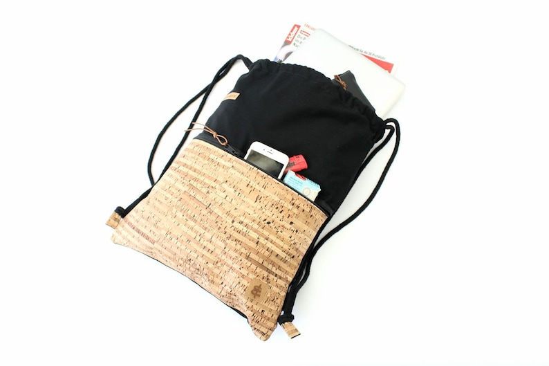 Backpack black & stripes