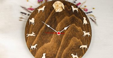 Beagle portrait clock  Gift for dog lovers  Wood wall Clock