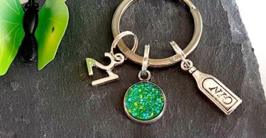 Birthday Gin Keyring  Gin Gift  Small Gin Gift For Her