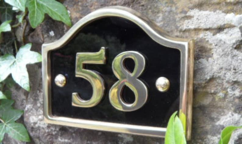 Brass Bridge House Numbers