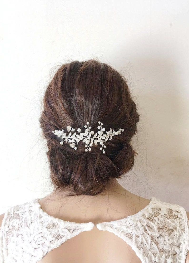 Bridal hair combwedding hair combbridal hair piece wedding