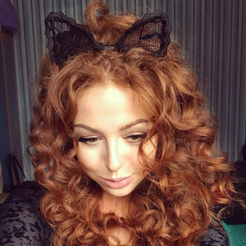 Cat Ears Lace Cat Ears Black Cat Ears Cat Ears Headband
