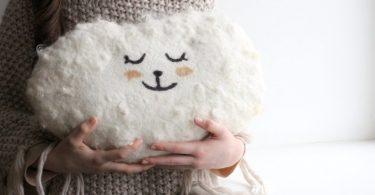 Cloud pillow  Felted wool pillow  handmade cushion  baby