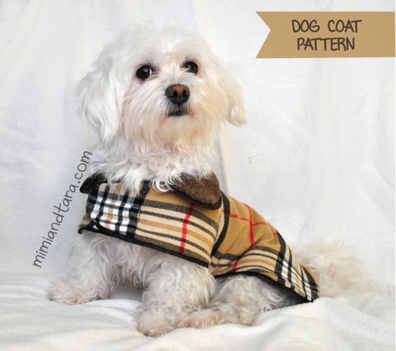 Dog Coat Pattern size XS Sewing Pattern Dog Clothes Pattern