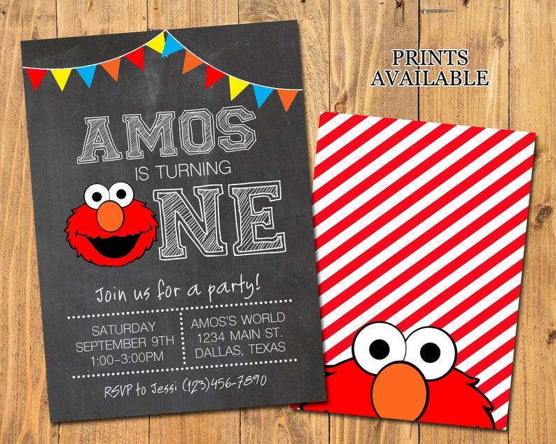 ELMO BIRTHDAY INVITATION  Elmo Party  Digital/Printable