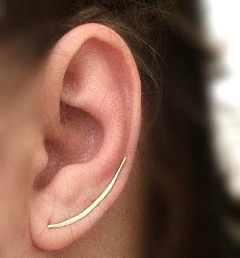 Ear Climber Earrings Sterling Silver Minimalist Silver