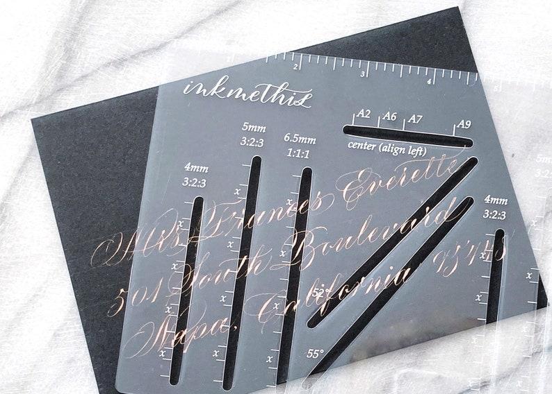 Envelope Guide Envelope Addressing Template Hand Calligraphy