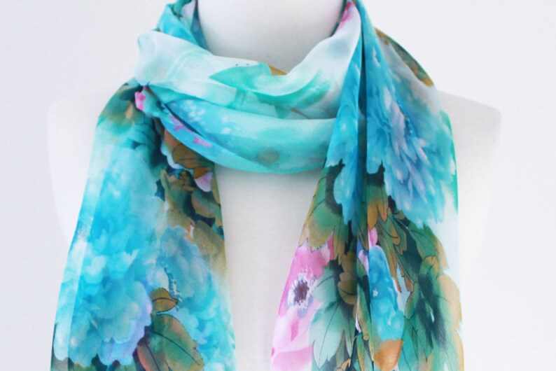 FINAL SALE//Soft Elegant Long Wrap Scarves/Turquoise and