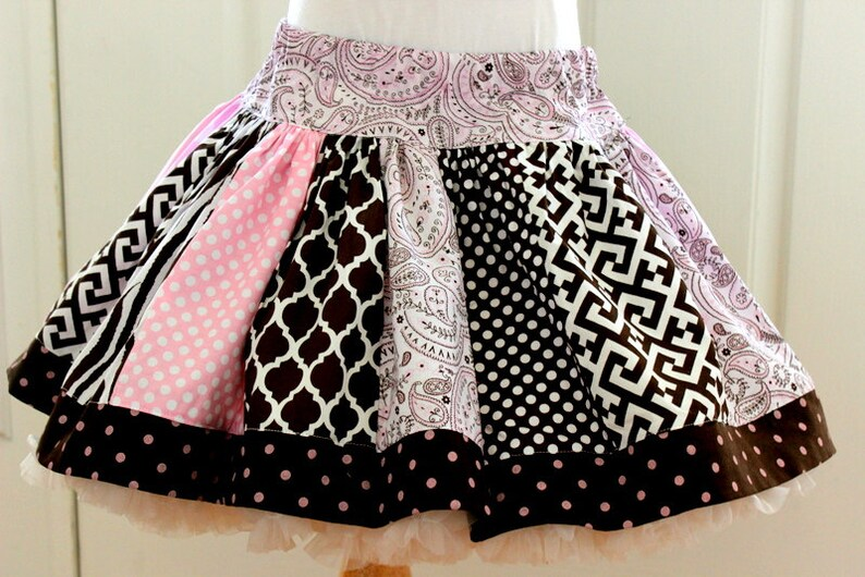 Girls skirt pink brown skirt girls cowgirl brown and pink