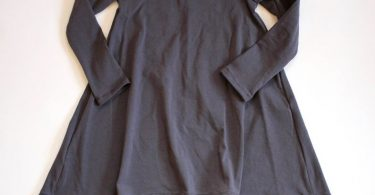 Gray swing dress Short or Long Sleeve high low dress long