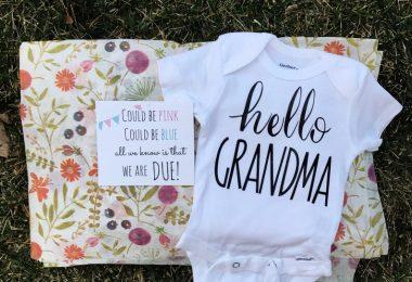 Hello Grandma Pregnancy Announcement Onesie Christmas Gift