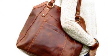 Large Brown Leather Handbag Tote Leather Shoulder Bag