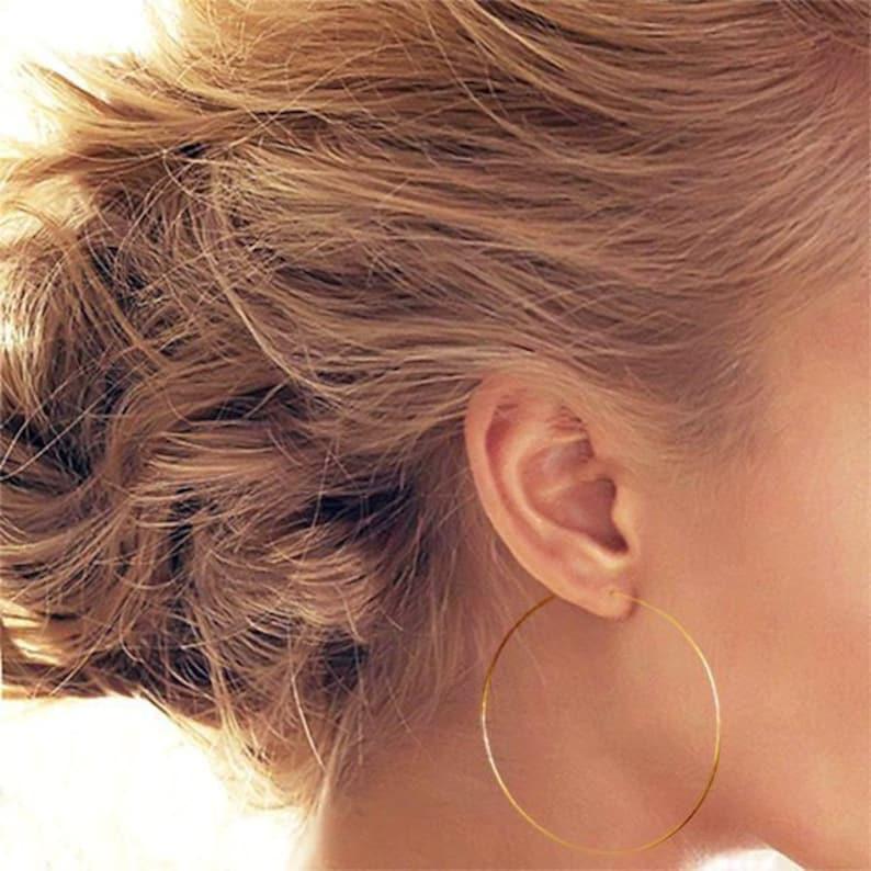 Large Gold Hoops Gold Hoop Earrings Gold Hoops Large Hoops