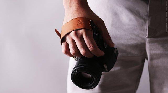Leather Camera Clutch Strap