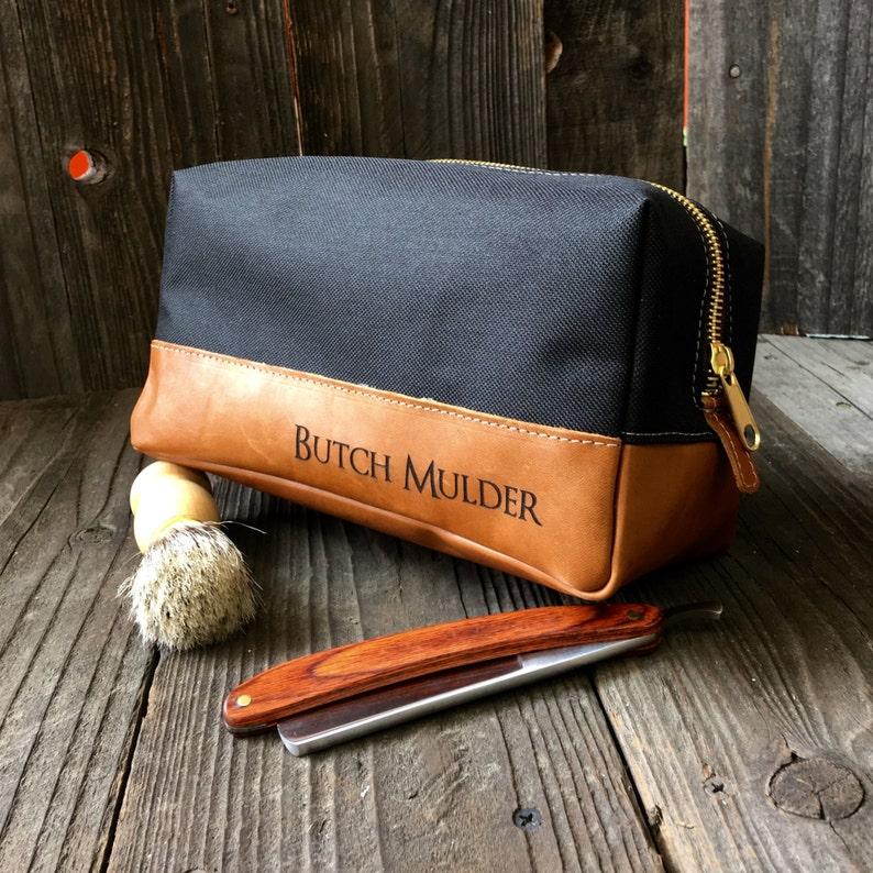 Leather Dopp Kit  Mens Toiletry Bag  Groomsmen Gifts