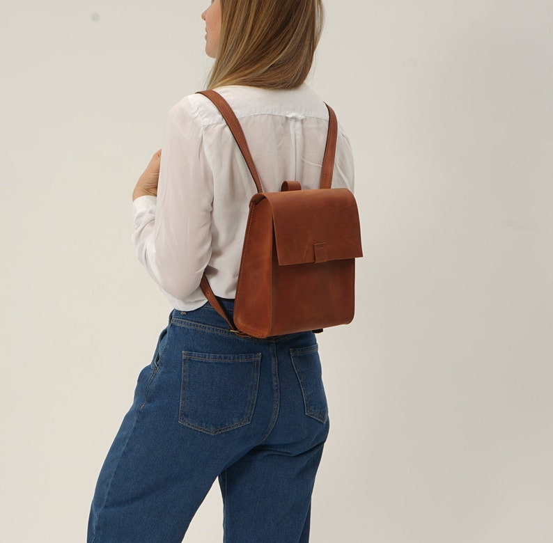 Leather backpack womenMini leather backpackLeather Satchel