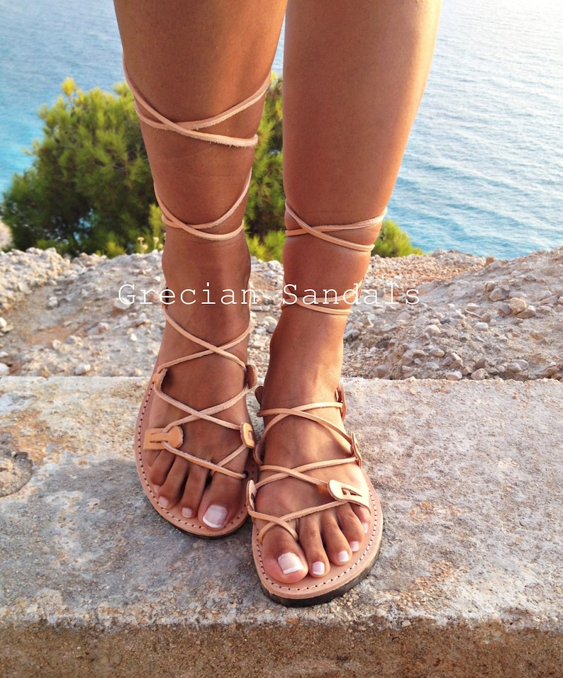 Leather sandals  gladiator leather sandals for women Ancient