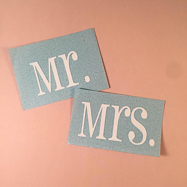 Mr & Mrs Decals  Wine Glass Decals  Decals for Wedding
