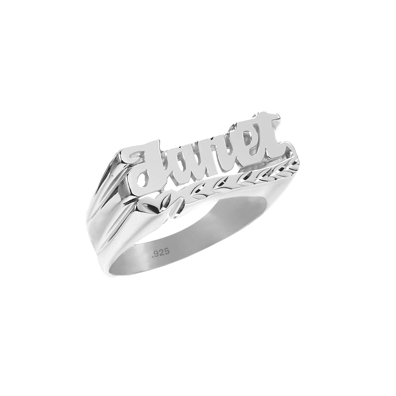 Name Ring   Sterling Silver Personalized Name Ring  with Name