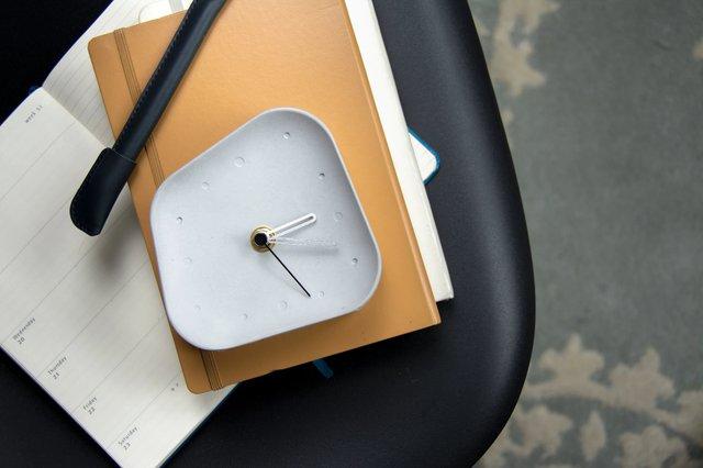 Olive Concrete Table Clock