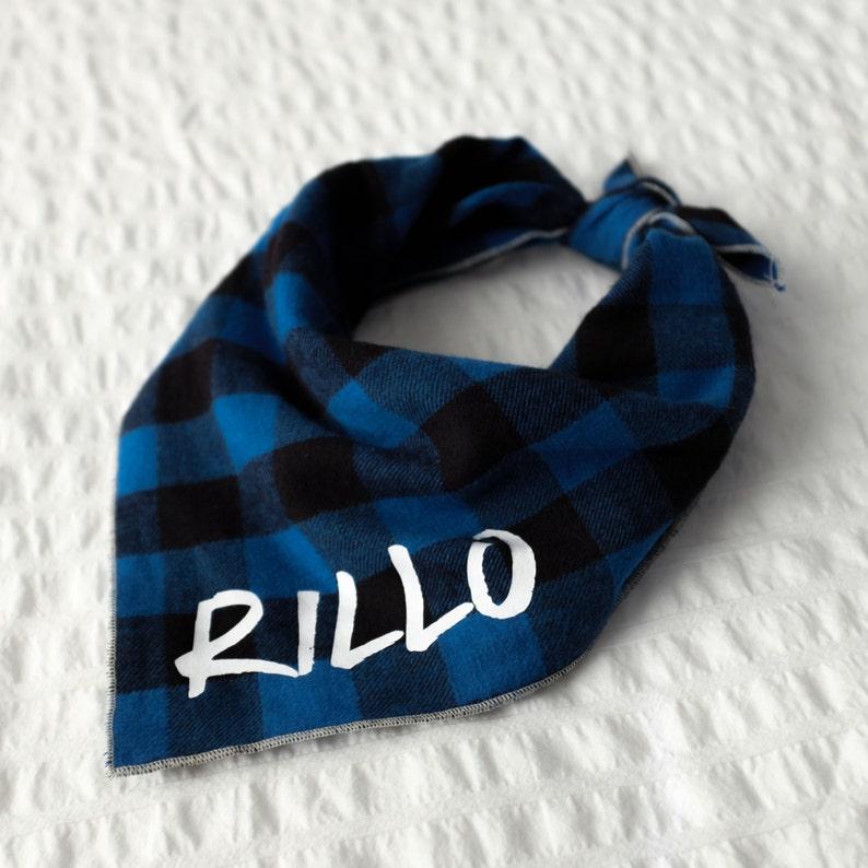 Personalized Plaid Dog Bandana  Russell // Dog bandana //