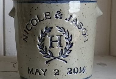 Personalized Stoneware Crock