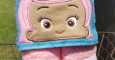 Pink Fish Bubble Guppies Hooded Towel