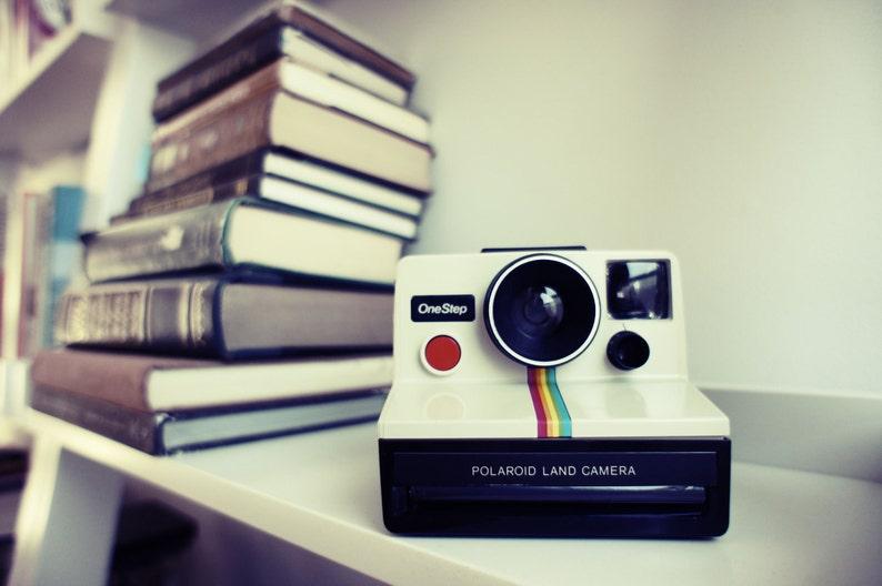 Polaroid Camera SX-70 Rainbow OneStep  Film Tested Working